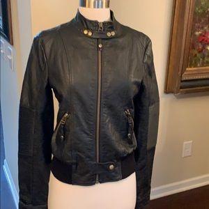 Gorgeous Miss Me faux black leather jacket